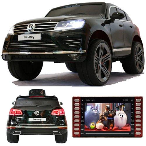 CROOZA - VW Touareg VW Touareg Touch-Display Bluetooth SoftStart Kinderauto Kinderfahrzeug Kinder Elektroauto schwarz