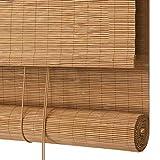 ZEMIN Bamboo Roller Blind Saracinesca Ombreggiatura Tenda Rullo Finestre Finestra Schermo Solare A Prova di Vento Hand-Sollevamento, 3 Colori (Color : B, Size : 100x200CM)