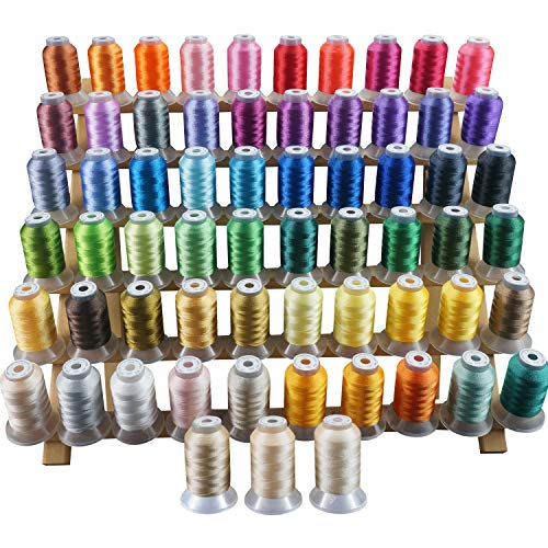 New brothread 63 Brother Couleurs Polyester Fil machine à broder pour Brother / Babylock / Janome / Singer / Kenmore Machine 500M (550Y) / bob