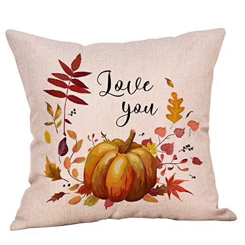 LOLIANNI Halloween Home Auto Bett Sofa Dekorative Kissenbezug Brief Gedruckt Kissenbezug 45X45 cm Kissenbezug