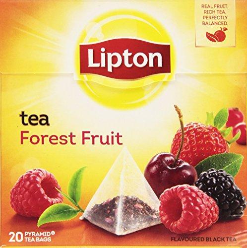 Lipton - Tè nero aromatizzato, Frutti di Bosco - 4 confezioni da 20 filtri [80 filtri]