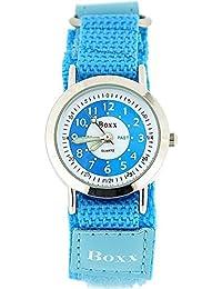 Boxx Girls Time Teacher Analogue Blue & White Dial Easy Fasten Strap Kids Watch