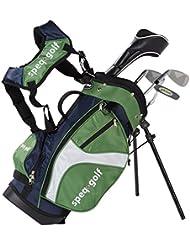 SPEQ Demi-série de golf pour enfant avec sac Jaune