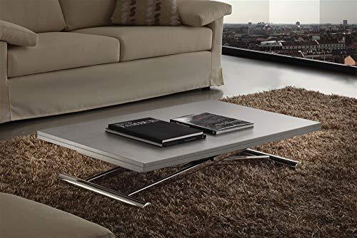 Tavolino trasformabile in Legno Everest - SG280, Cemento, Metallo Color Alluminio