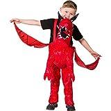 Costume sur le dos pour enfant | Déguisement porte moi dragon rouge | Costume petit dragon | Déguisement insolite
