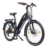 """NCM Milano Bicicletta elettrica da Trekking, 250W, Batería 48V 13Ah 624Wh 26"""" Nero"""
