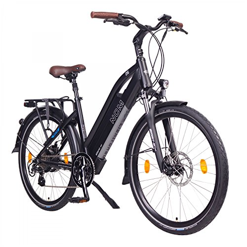"NCM Milano Bicicleta eléctrica de Trekking, 250W, Batería 48V 13Ah 624Wh (26\"" Negro)"