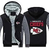 NFL Football Kleidung Kansas City Chiefs Trainingsanzug Eindickung Plus Velvet Zipper Kapu