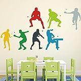 HCCY Sala de formación Sala de Tenis de mesa estadio adhesivo pared papelerías gimnasio decorado gráfico de movimiento de la pared, mesa de ping pong.