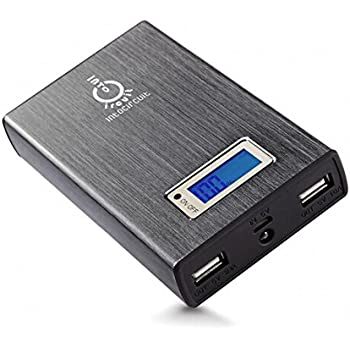 Intocircuit®2nd Gen Power Castle batteir externe 15000mAh avec la technologie SmartID Portable Dual-Port 5V 3.1A (2.1A + 1A) Chargeur de Batterie Externe Sauvegarde Power Bank avec lampe de poche intégrée pour iPad Air2, mini3, 4, 3, 2, iPhone 6, de plus, 5S, 5C, 5, 4S, 4 (câble d'éclairage non inclus) Samsung Galaxy S5, S4, S3, S2, Note4, Note 3, Note 2, onglet 4 3 2 Pro, HTC One, One2 (M8), MotoX, Sony Xperia Z, Google Nexus, les tablettes Android et Plus - Gris