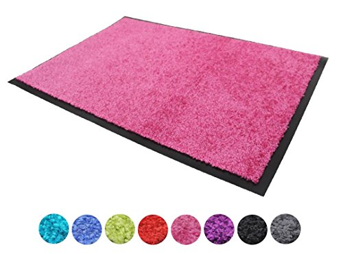 Schmutzfangmatte CLEAN - pink, 60x90cm, Waschbar, Rutschfest, Pflegeleichte Fußmatte | Fußabtreter, Fußabstreifer | Fußmatte,...