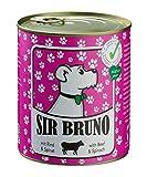 Premium Hundefutter | Nassfutter Sir Bruno Rind & Spinat, 6er Pack (6x 800g). Nur vom Feinsten Ihren Hund gesund ernähren.