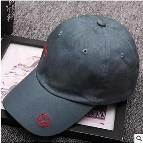 TJJQT Baseballmütze Neue Sommer Neue koreanische männer und Frauen Stickerei Buchstaben persönlichkeit Soft top Baseball Cap travel Fashion Gebogene Bogen Hut Cap (Bogen-baseball-cap)