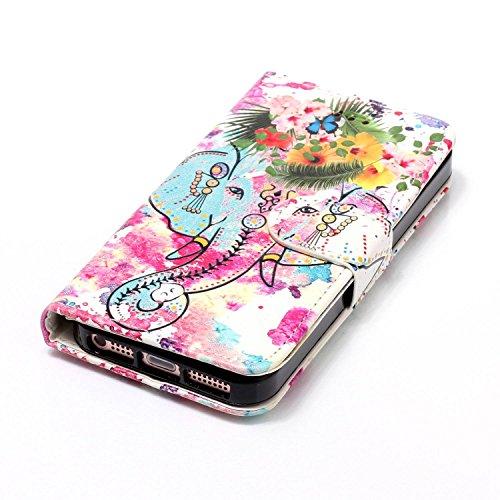 iPhone 5S Custodia, Cover iPhone 5, JAWSEU iPhone SE Custodia Cover Wallet Pouch Lusso Liscio Marmo Design Creativo Custodia per Apple iPhone 5/5S/SE ...