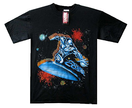 (Millennium Designs T-Shirt Silver Surfer, Power Cosmic, schwarz, L)