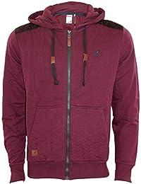 New Mens Brand Kangol Hoody Fleece Zipper Designer Top Quilted Pockets and Hood