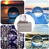 ADWIKOSO, Sfera di Cristallo per Fotografia K9, acchiappasole in Vetro con Custodia, Ornamenti Decorativi con Supporto, Cristallo, 90mm Set