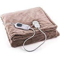 Klarstein Dr. Watson XL • Manta eléctrica • Frazada eléctrica • Calentador de cama • 180 x 130 cm • Potencia 120 W • 3 Temperaturas regulables • Función de ...