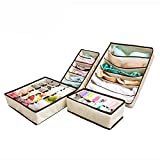 #2: House Of Quirk Set Of 4 Foldable Drawer Dividers, Storage Boxes,Innerwear Storage Box, Closet Organizers, Under Bed Organizer