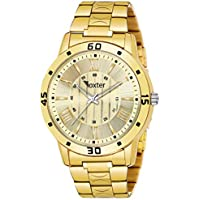Foxter Analog Gold Dial Men's Watch-FXT1245