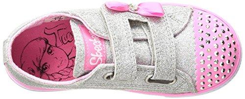 Skechers Twinkle Toes Shuffles, Running Mixte Enfant Multicolore (Silver/pink)