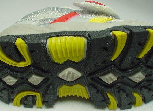 Kinder Sportschuhe,sehr leicht, breiter Klettverschluß,Gr.24-34, grau-silber/bunt Grau-Silber