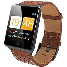 YWYU Fitness Tracker, Pard Men/Women Fashion Reloj Inteligente, frecuencia cardíaca/presión
