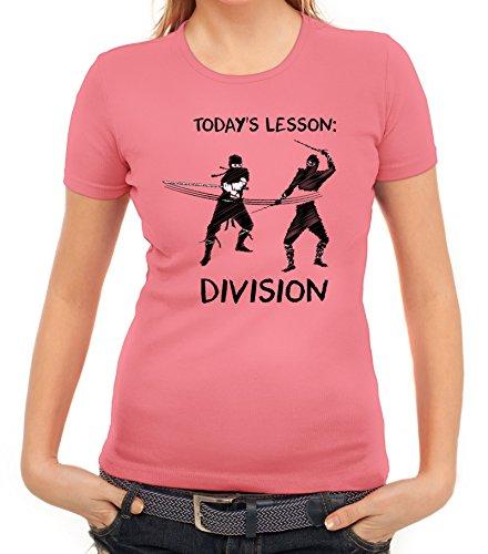 Sport Damen T-Shirt mit Ninja Division Motiv von ShirtStreet Rosa