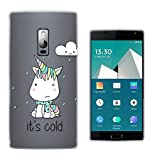C01644 - Cute Cold Unicorn Design Oneplus Two 2 - 2015
