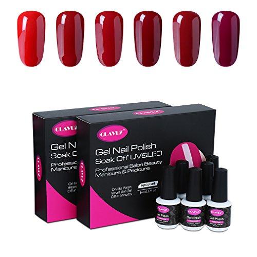 Clavuz 6pcs Kit Esmaltes Uñas Gel UV LED Semipermanente