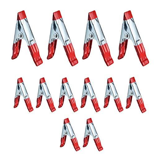 """10 x 2 """"Un Titular de agarre con punta de metal de resorte Abrazaderas revestida de goma para acampar Lona Rojo"""