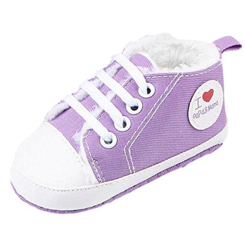 Sapo Fogo Inverno Sneaker, Sapatos Meninos Andador Roxo