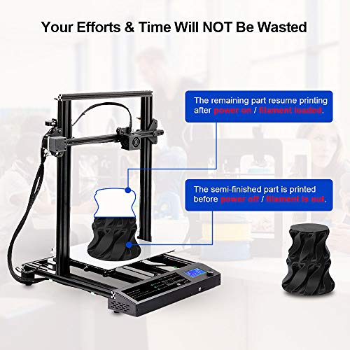 Sunlu 3D Printer, Semi-assembly, Nozzle & Heated for PLA, ABS, PETG, HIPS, WOOD, PLA Carbon Fiber with Build Volume 310 × 310 × 400 mm, for Home Use & Beginner - 5