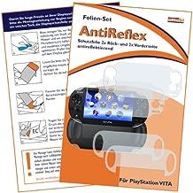 """4x mumbi Displayschutzfolie für Sony PlayStation Vita Schutzfolie """"AntiReflex"""" / 2 x VORDERseite + 2 x RÜCKseite (Nicht für PS Vita Slim)"""