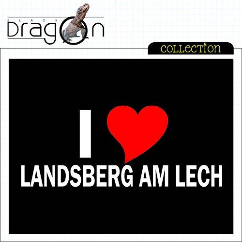 T-Shirt mit Städtenamen - i Love Landsberg am Lech - Herren - unisex Schwarz