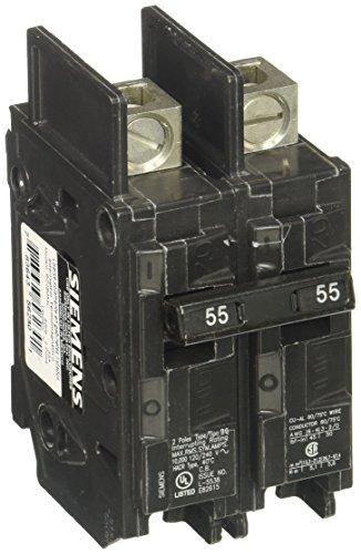 Siemens bq2b055l 55-amp Doppel Pole 120/240-volt 10kaic Lug in/LUG Out vorzubeugen (Doppel-pole Line)