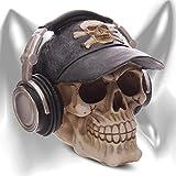 """Hucha """"Devils debt collector"""" Figura Decoración con gorra de béisbol cool y con los auriculares de DJ"""
