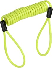 Generic Safety Lanyard Spring Coil Wire Rope Disc Brake Lock Reminder Cable Green