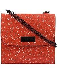 ESBEDA Orange Printed PU Synthetic Slingbag For Women