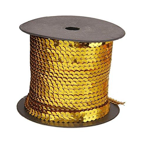 PIXNOR Pailettenband Borten Rolle Gold 6mm