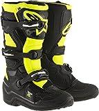 Bottes Motocross Enfant Alpinestars 2017 Tech 7S Noir Jaune Flourescent (Eu 37 / Us 4 , Noir)