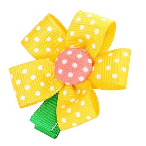 bébés filles fleur jaune barettes cheveux [Tournesol], 10PC