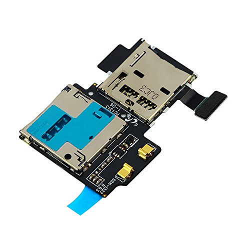 Buyyart New Micro SD Card Reader SIM Tray Holder Flex Cable for Samsung Galaxy S4 i9505