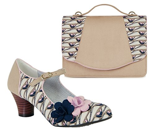 Ruby Shoo , Mary Janes pour femme Beige