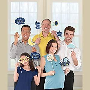 Amscan International 3900256 - Juego de accesorios para fotos, diseño de estrella