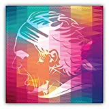 Roger Federer Head Silhouette Tennis Sport Hochwertigen Auto-Autoaufkleber 12 x 12 cm