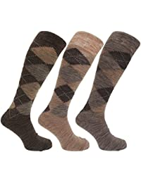 Chaussettes hautes en mélange de laine (lot de 3 paires) - Homme
