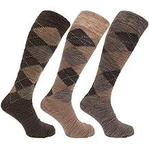 Pack de 3 pares de calcetines largos para hombre, de lana de cordero, 39
