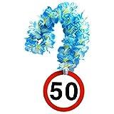 1 Geburtstag Hawai Kette 50 Jahre Party Deko Schild