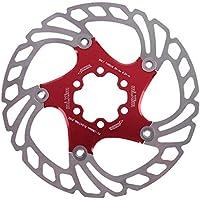 Matefielduk Bicicleta Freno de Disco MTB Mountain Road Bike 160mm Rotor de Freno de Disco Flotante Piezas de Bicicleta (Rojo)